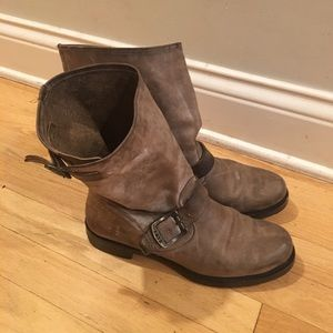 Brown/grey Frye boots